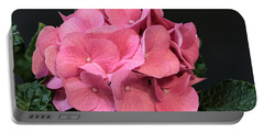 Portable Battery Charger featuring the photograph Pink Hydrangea Bloom by Sheila Brown