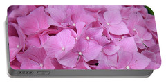 Pink Hydrangea Portable Battery Charger by Elvira Ladocki