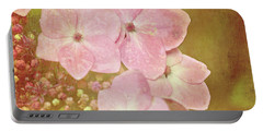 Portable Battery Charger featuring the photograph Pink Hydrangeas by Lyn Randle