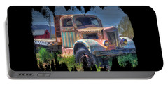 Classic Flatbed Truck In Pink Portable Battery Charger