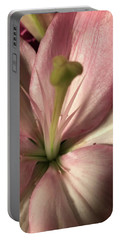Pink Lily-macro Portable Battery Charger
