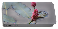 Pink Lily Pad Portable Battery Charger