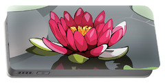 Pink Lotus Portable Battery Charger