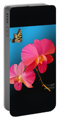 Pink Lux Butterfly Portable Battery Charger