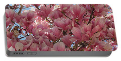 Pink Magnolia Blossoms Portable Battery Charger