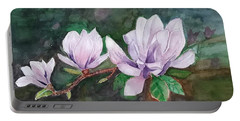 Pink Magnolia - Painting Portable Battery Charger