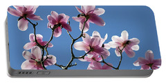 Pink Magnolias  Portable Battery Charger