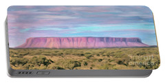 Pink Mesa Portable Battery Charger by Walter Colvin