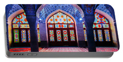 Pink Mosque, Iran Portable Battery Charger