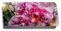 Pink Moth Orchids Portable Battery Charger