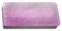 Pink Ombre Watercolor Portable Battery Charger by P S