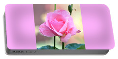 Pink On Pink Rose Portable Battery Charger