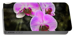 Pink Orchid Portable Battery Charger