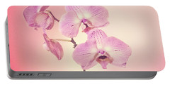 Portable Battery Charger featuring the photograph Pink Orchids 2 by Linda Phelps