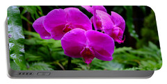 Pink Orchids Portable Battery Charger by Mini Arora