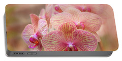 Pink Orchids Portable Battery Charger by Robert FERD Frank