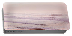 Portable Battery Charger featuring the photograph Pink Pacific Beach by Bonnie Bruno