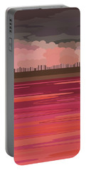 Pink Park Portable Battery Charger by Val Arie