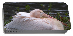 Pink Pelican Portable Battery Charger by Margaret Brooks