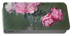 Pink Peonies Walking The Plank Portable Battery Charger