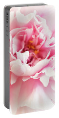 Pink Peony 2 Portable Battery Charger by Elena Nosyreva