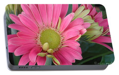 Portable Battery Charger featuring the photograph Pink Petals by Christina Verdgeline