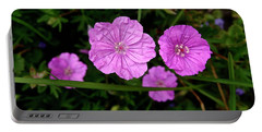 Pink Petals Portable Battery Charger by Tim Good