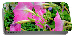 Pink Petunia Flower 1 Portable Battery Charger