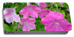Pink Petunia Flower 11 Portable Battery Charger