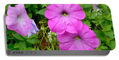 Pink Petunia Flower 2 Portable Battery Charger