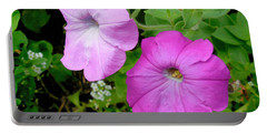 Pink Petunia Flower 3 Portable Battery Charger