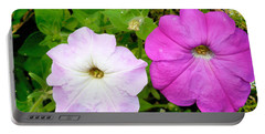 Pink Petunia Flower 4 Portable Battery Charger
