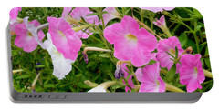 Pink Petunia Flower 5 Portable Battery Charger