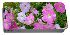 Pink Petunia Flower 6 Portable Battery Charger