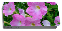 Pink Petunia Flower 7 Portable Battery Charger