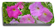 Pink Petunia Flower 8 Portable Battery Charger