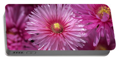 Pink Pigface Flowers Portable Battery Charger