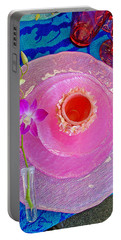 Pink Place Setting Portable Battery Charger