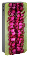 Pink Plumeria Lei Portable Battery Charger