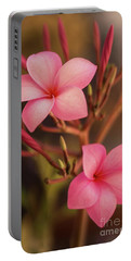 Pink Plumeria Rubra Portable Battery Charger