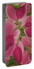 Pink Poinsettia Portable Battery Charger
