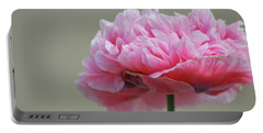 Portable Battery Charger featuring the photograph Pink Poppy by Amee Cave