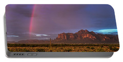 Portable Battery Charger featuring the photograph Pink Rainbow  by Saija Lehtonen