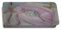 Pink Retro 1960 Telephone Portable Battery Charger