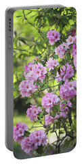 Pink Rhododendron Bloom Portable Battery Charger