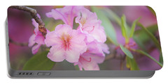 Pink Rhododendron Flowers Portable Battery Charger