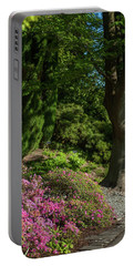 Portable Battery Charger featuring the photograph Pink Rhododendron In Garden by Jenny Rainbow