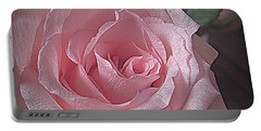 Pink Rose Bliss Portable Battery Charger