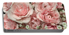 Pink Rose Bouquet Portable Battery Charger