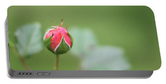 Pink Rose Bud Portable Battery Charger